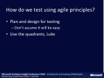 how do we test using agile principles