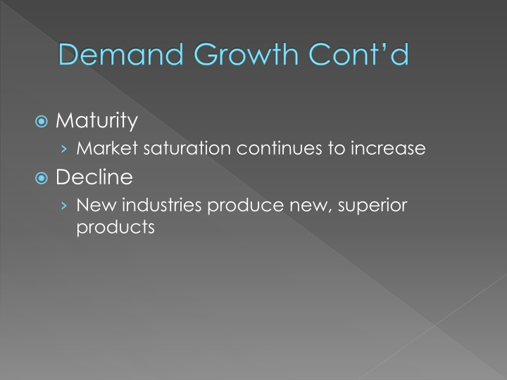 Demand Growth Cont'd