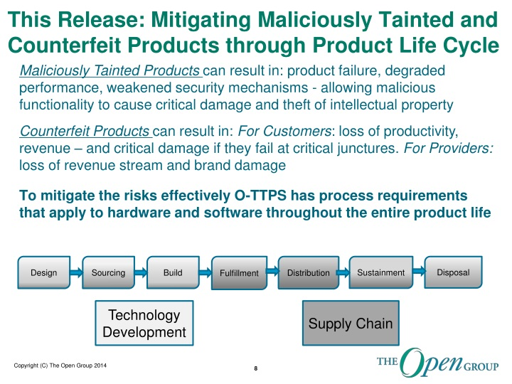 This Release: Mitigating Maliciously Tainted and Counterfeit Products through Product Life Cycle