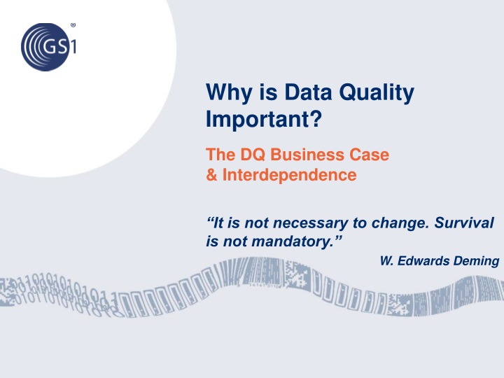 Why is data quality important