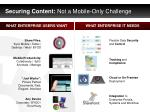 securing content not a mobile only challenge