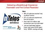 delivering a breakthrough experience automation and first contact resolution