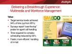 delivering a breakthrough experience multimedia and workforce management