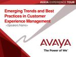 emerging trends and best practices in customer experience management