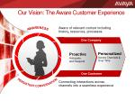our vision the aware customer experience