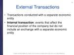 external transactions