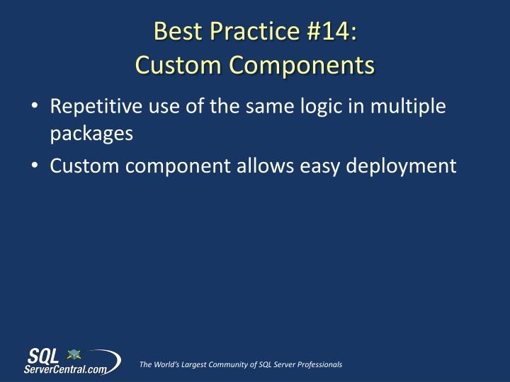 Best Practice #14: