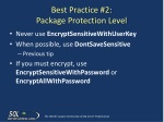 best practice 2 package protection level
