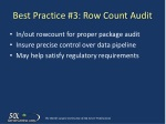 best practice 3 row count audit
