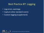 best practice 7 logging