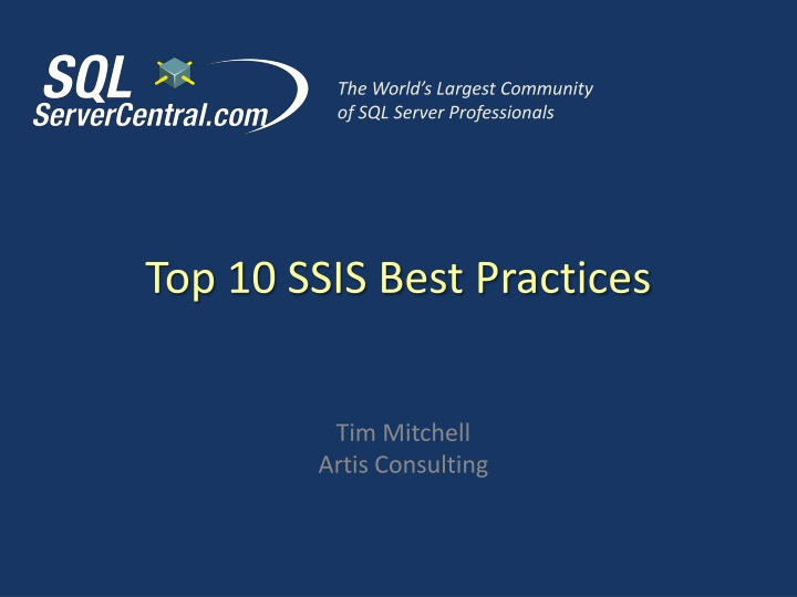 Top 10 ssis best practices