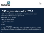 css expressions with utf 7