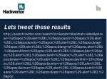 lets tweet these results