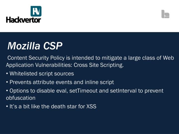 Mozilla CSP
