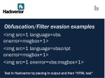 obfuscation filter evasion examples