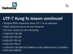 utf 7 kung fu lesson continued