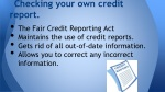 checking your own credit report