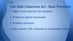 fair debt collections act basic provisions