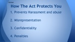how the act protects you