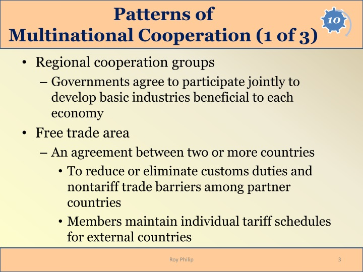 Patterns of multinational cooperation 1 of 3