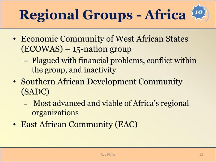 Regional Groups - Africa