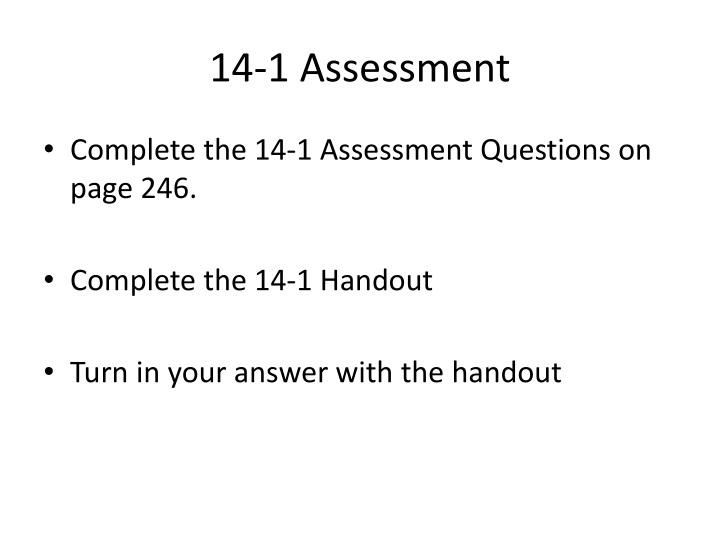 14-1 Assessment