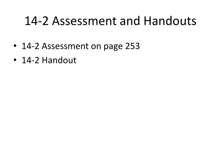 14-2 Assessment and Handouts