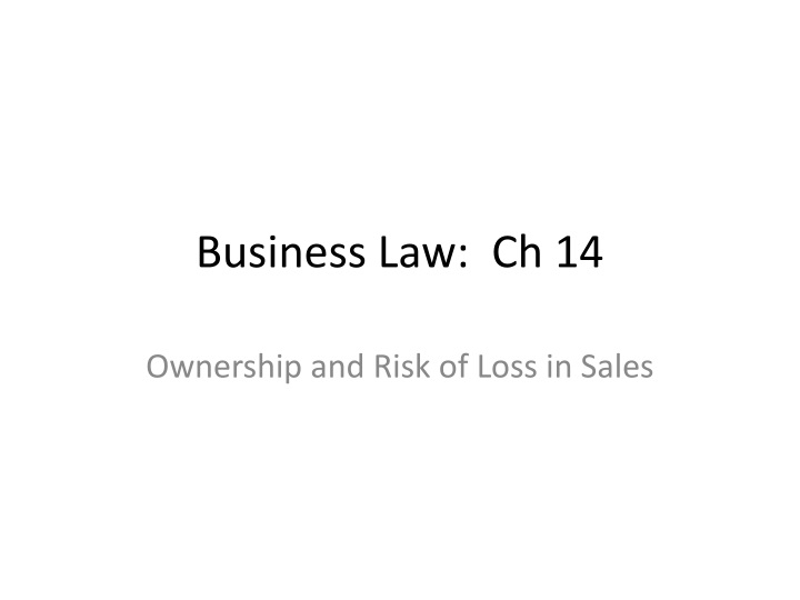 Business law ch 14