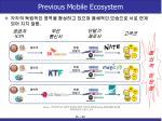 previous mobile ecosystem