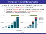 worldwide mobile internet traffic