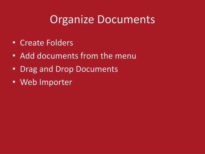 Organize Documents