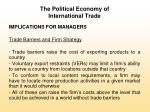 the political economy of international trade10