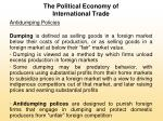 the political economy of international trade7