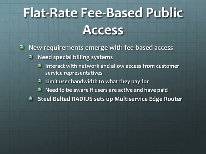 Flat-Rate Fee-Based Public Access