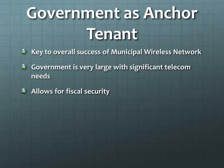 Government as Anchor Tenant