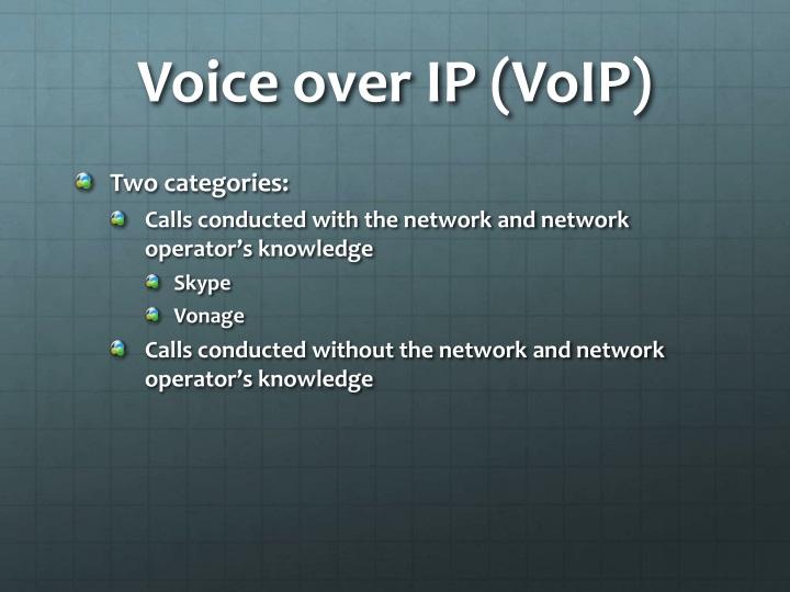 Voice over IP (