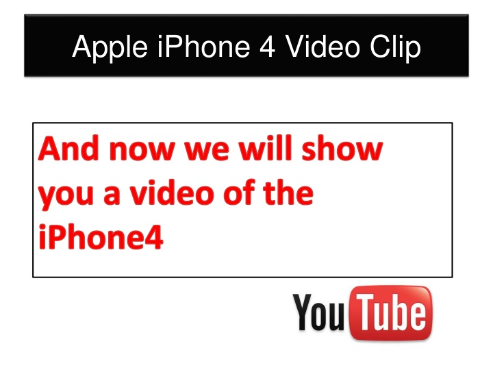 Apple iPhone 4 Video Clip