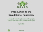 introduction to the dryad digital repository