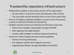 trustworthy repository infrastructure