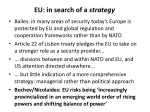 eu in search of a strategy
