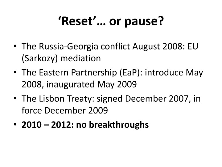Reset or pause