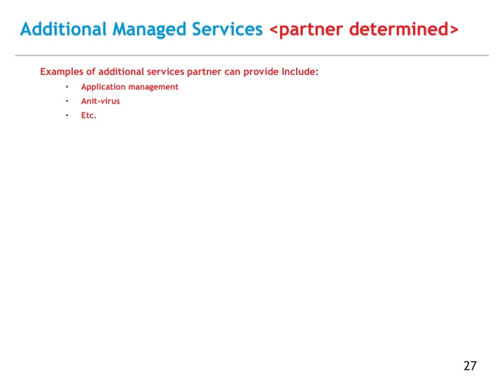 Additional Managed Services