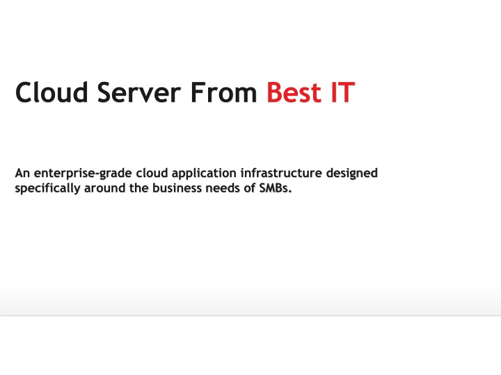 Cloud server from best it