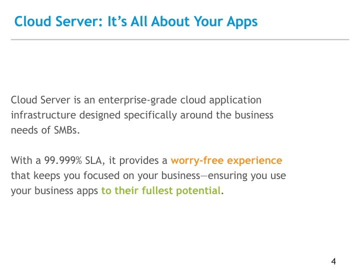 Cloud Server: It's All About Your Apps