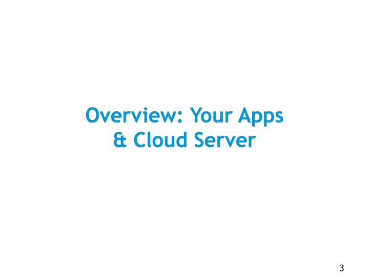 Overview your apps cloud server