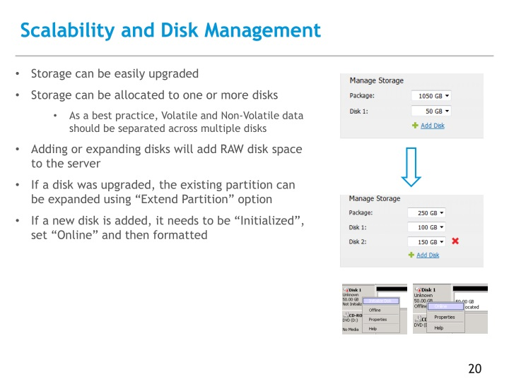 Scalability and Disk Management