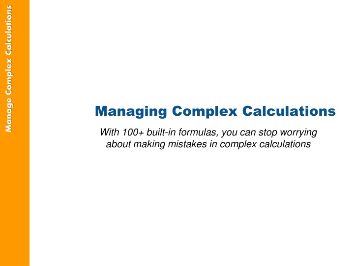 Managing Complex Calculations