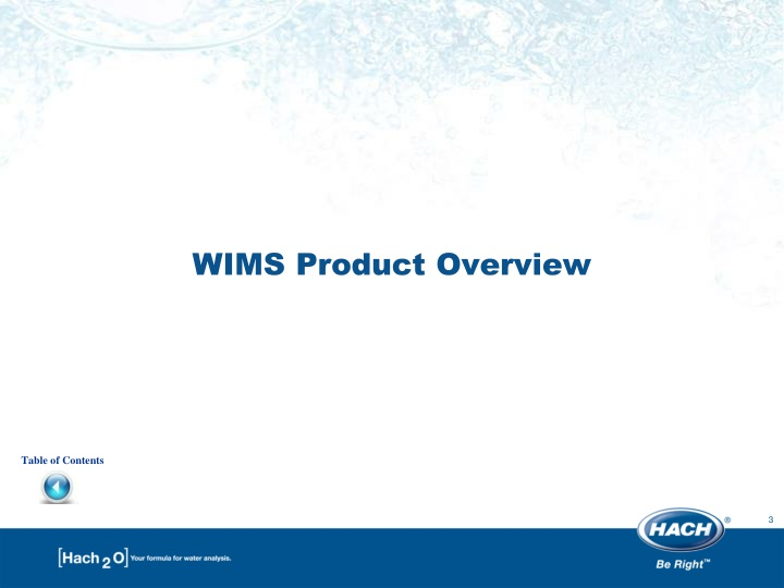 Wims product overview