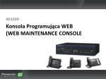 konsola programuj ca web web maintenance console