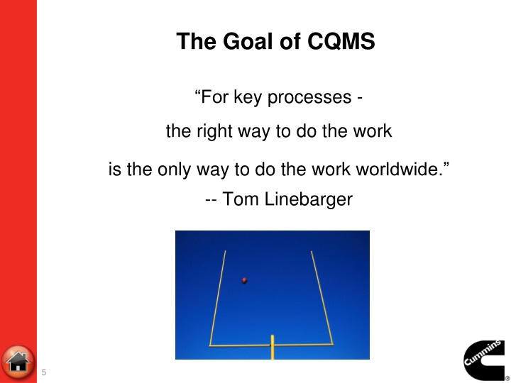 The Goal of CQMS